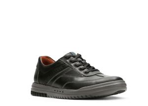 Clarks Men/'s Unrhombus Fly Black Leather Sport Shoes 26127962