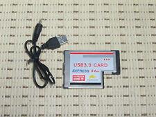 PCMCIA Express Card Karte 54mm 2 Port USB3.0 Win7 kompatibel für Notebook Laptop