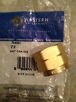 Item 50-western Nut 72 Cga 555 Butane,propane(liquid Withdrawl), Lh, Female