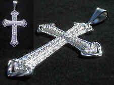 Ja Rule Kreuz*Cross*echt 925 Silber*Stempel*Zirkonia Diamanten*PLAYAZ *Ortodox