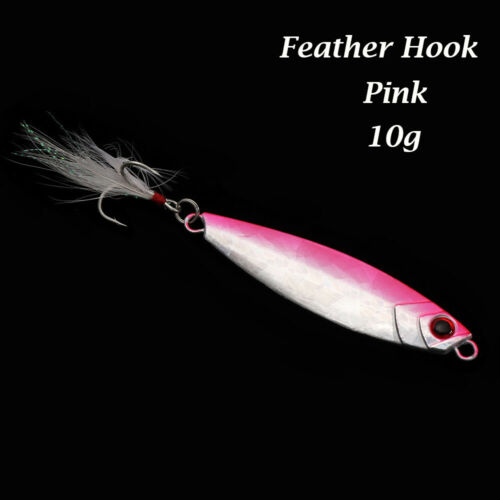 Colorful Jig Bait Spinning Baits Feather Metal Fishing Lures Lead Casting