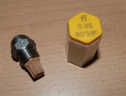 Größe 0,85 Ölbrennerdüse HF Fluidics Hohlkegel Öldüse 45° bis 1,35 80°