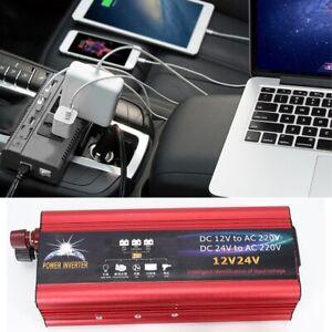 6000W-12V-a-220V-Solaire-Inverter-Onduleur-Convertisseur-Aluminium-pour-voiture