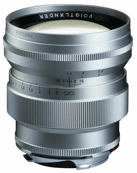 !!! Neuf!!! Voigt Pays Vm Nokton 75 Mm 1,5 F1.5 Pour Leica M Argentés Silver Pour RéDuire Le Poids Corporel Et Prolonger La Vie