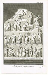 ANTIQUE-PRINT-VINTAGE-1777-COPPER-PLATE-DIDEROT-APOTHEOSE-D-039-HOMERE-BERNARD-DIREX