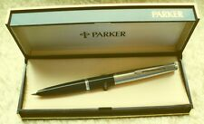 "PARKER ""45"" FOUNTAIN PEN ""  CLIP WITHOUT FEATHERS ""  in  BLACK / CHROME in BOX"