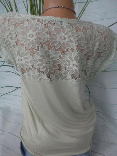 Damen Shirt Vivance Viskose Stretch Gr 34-40 Oliv Ton mit Spitze NEU 264