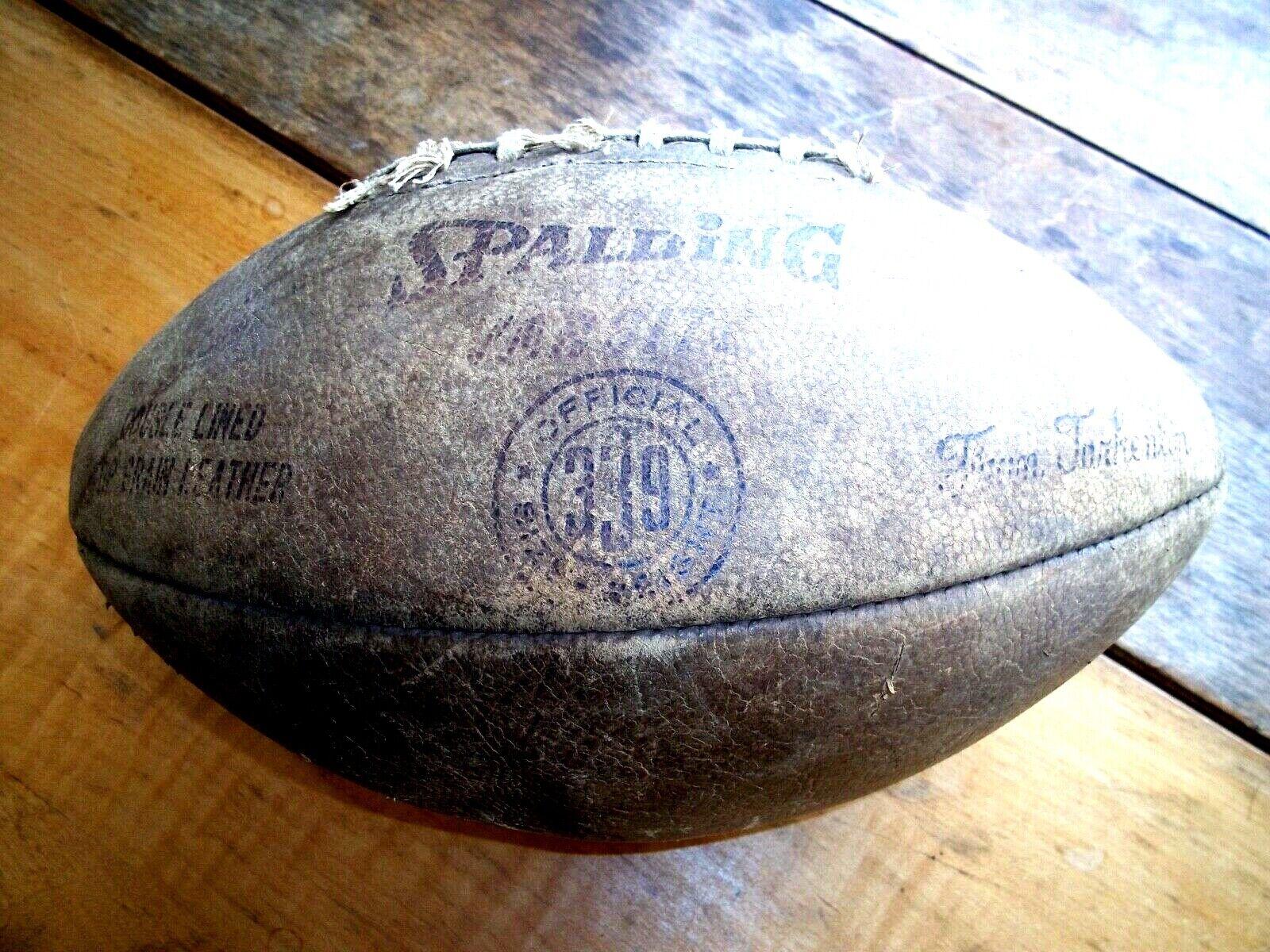 VNTG 60's Spalding Varsity -SEWN Leather Pigskin Football - FRAN TARKENTON
