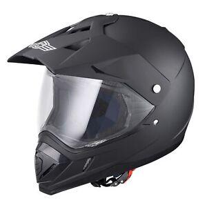 Dual Sport Visor Motorcycle Motocross DOT Full Face Helmet PC Visor Motorbike L