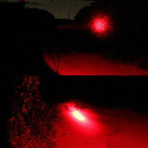 Portable LED Light Red Beam Flashlight Astronomy Camping Night Vision Red Torch