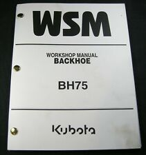 Kubota Bh75 Backhoe Compact Tractor Workshop Service Repair Manual Book Catalog