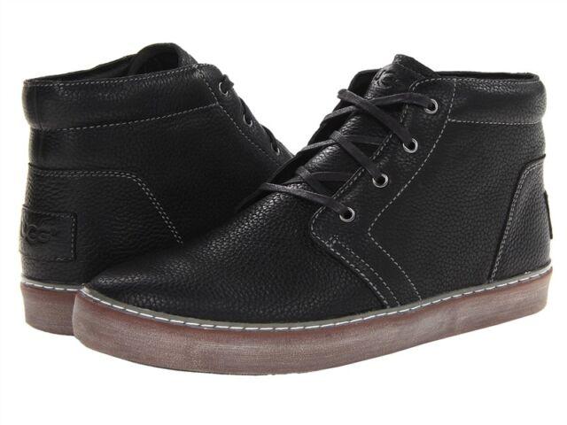 3908b4b22b1 Men UGG Australia Alin Sneaker Boot 10007585 Black Leather 100% Original New