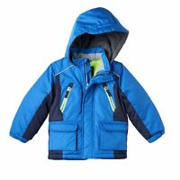 $90 Oshkosh B'gosh Hooded Jacket Coat Little Boys 4-7 Blue