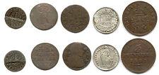 Altdeutschlad+Schweiz, Lot von 5 Münzen mit Silber