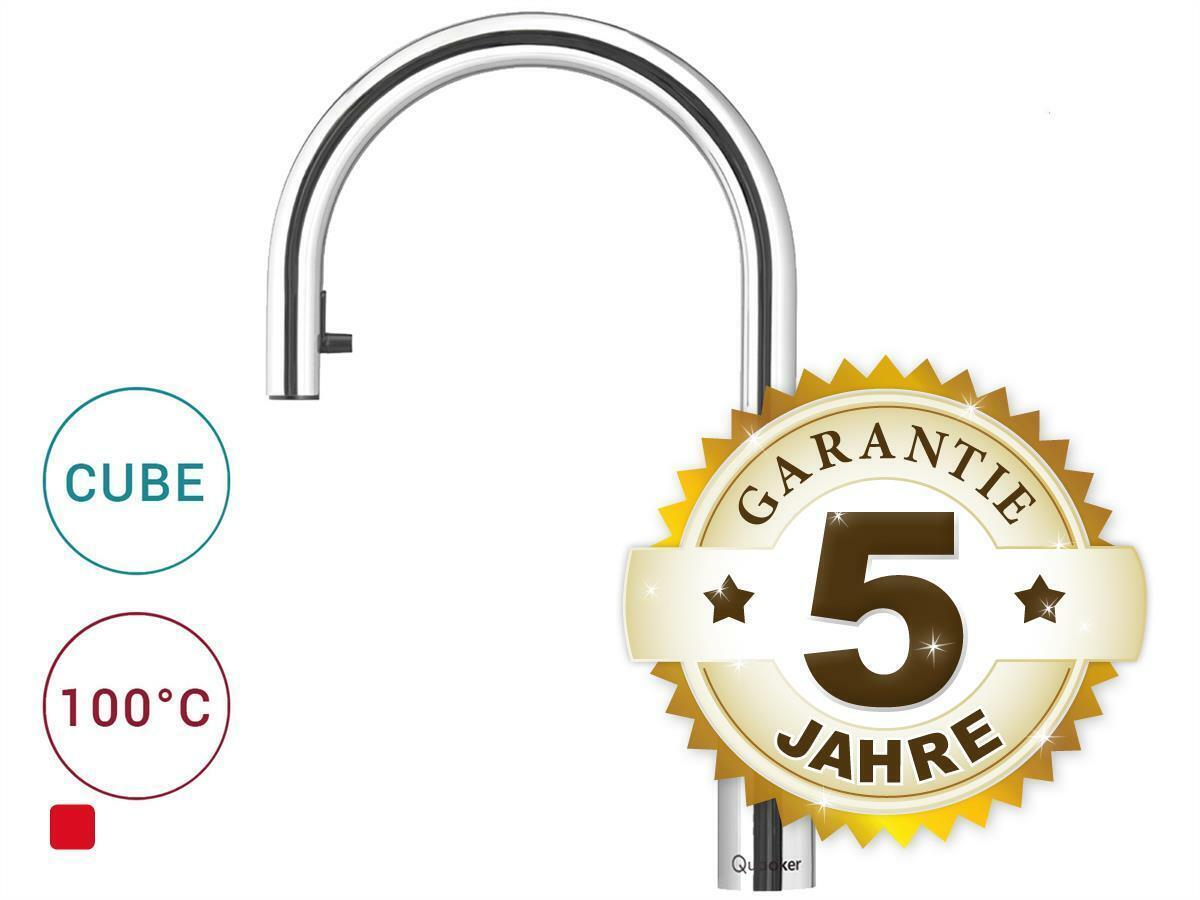 Quooker COMBI 2.2 E & CUBE   Flex CHR (verchromt glänzend) Kochendwasser-Armatur