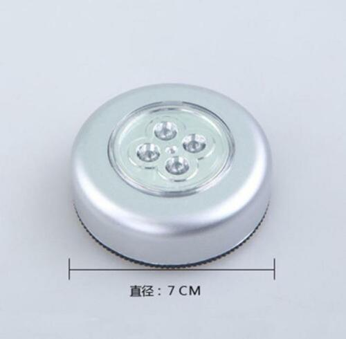 4 LED Touch Night Light Home Kitchen Under Cabinet Closet Push Stick On Lamp