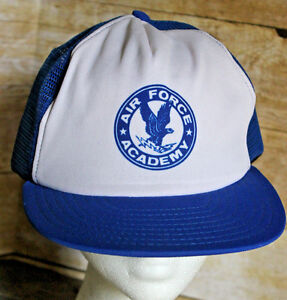 Vintage Air Force Academy Snap Back Trucker Hat Adjustable Cap ... 3ffb8e09ea0e