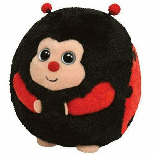 TY BEANIE BALLZ BABIES DOTS LADYBIRD PLUSH SOFT TOY NEW WITH TAGS