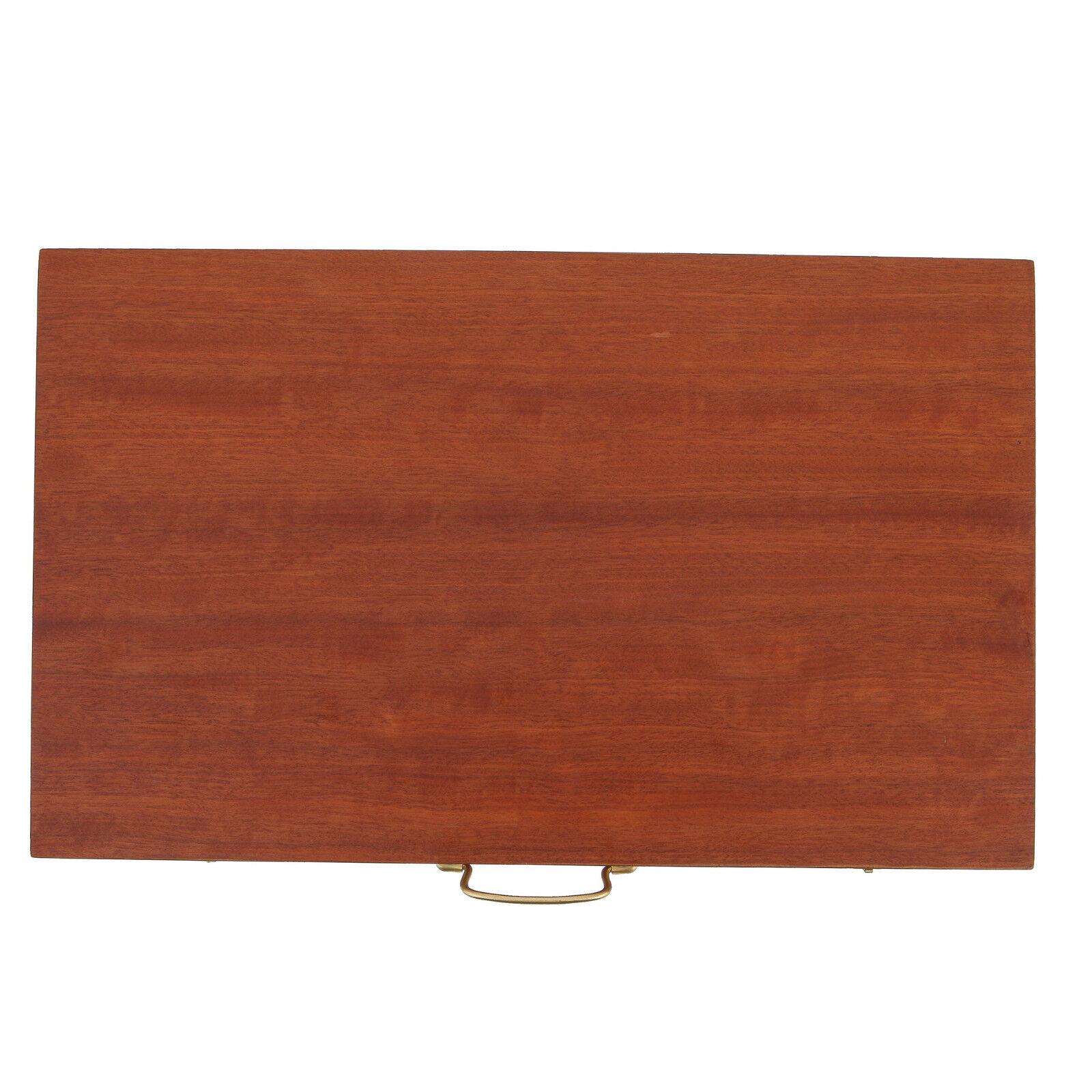 Backgammon Deluxe Conjunto de Juego-Hecho a Mano Madera de Caoba-Grande