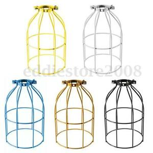 Steel-Bulb-Cage-Clamp-On-Metal-Lamp-Guard-For-E27-Vintage-Light-Industrial-NEW