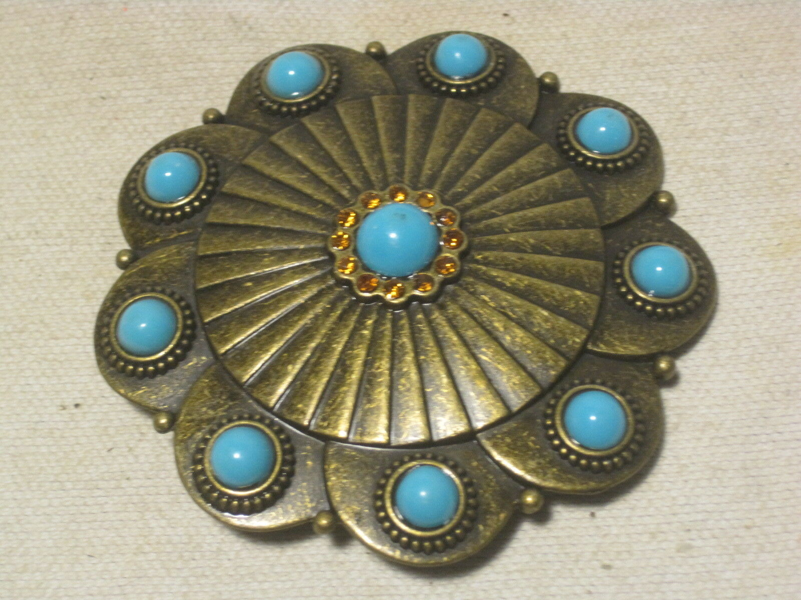 belt buckle woman's woman turquoise rhinestone plastic metal fashion 41052A