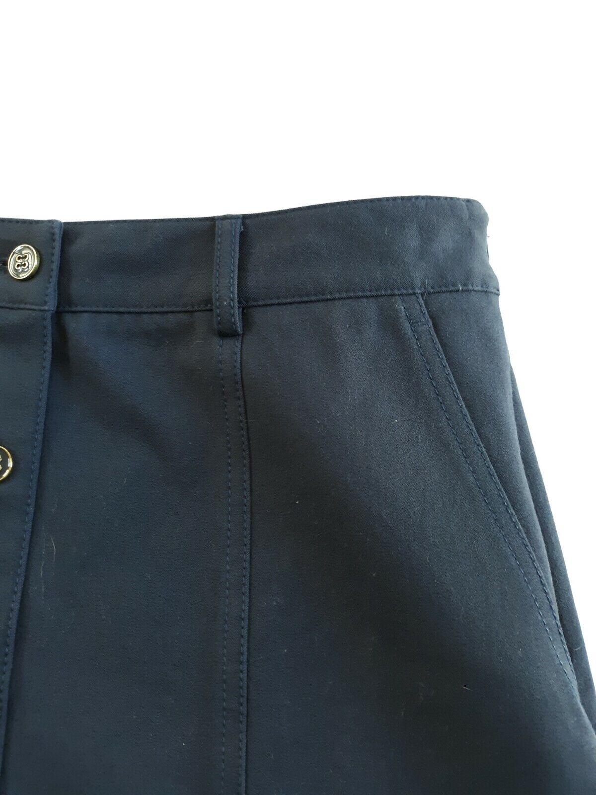 J McLaughlin Teal Button Front A Line Skirt Size 2 - image 9