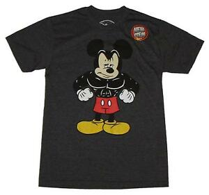 Disneyland-Buff-Muscle-Mickey-Mouse-World-Fun-Adult-Men-039-s-Graphic-T-Shirt-Tee