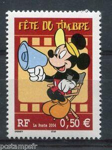 FRANCE-2004-timbre-3641-DISNEY-MICKEY-FETE-DU-TIMBRE-neuf