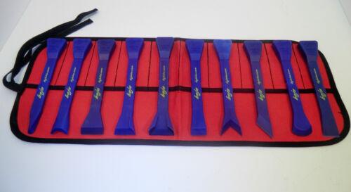 Nylon//plastic composite. BoJo Tools 10pc Deluxe Scraper Kit with Pouch