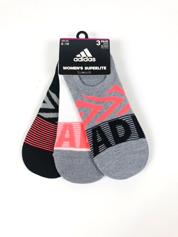 adidas 3 pár NO SHOW zokni női méret 5-10 könnyű fehér / szürke / fekete / pink