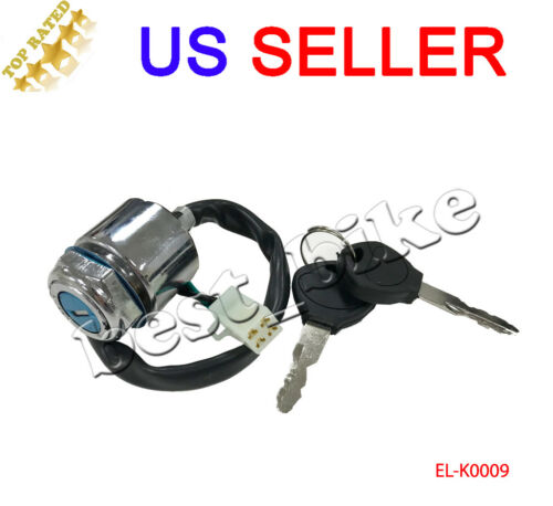 4 Wire Pin Ignition Key Switch Go Kart ATV Quad Dirt Bike Scooter Moped Chinese