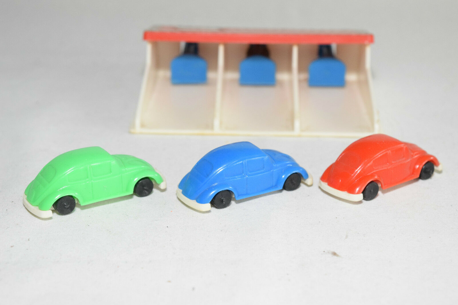 SHAMBERS SPAIN PLASTIC VW VOLKSWAGEN BEETLE KAFER RACE SET SET SET NEAR MINT RARE SELTEN db5420