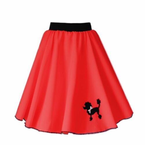 Polyester Womens 50s POODLE SKIRT Rock and Roll Plus Size 50s Dance