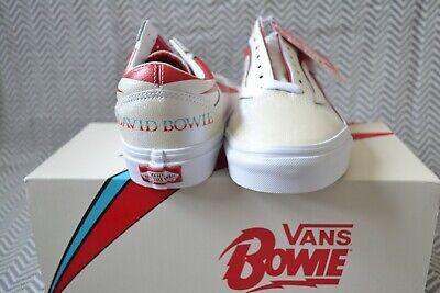 Vans x David Bowie Skool Scarpe da ginnastica Aladdin Old sano Vero Bianco x Db esaurita 8 HP | eBay