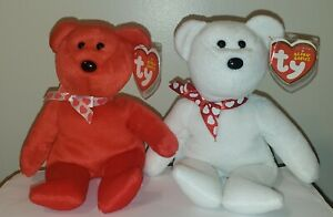 Ty Beanie Baby Bears Set of 2 - AMORA & XAVIER - NEW - MINT with MINT TAGS