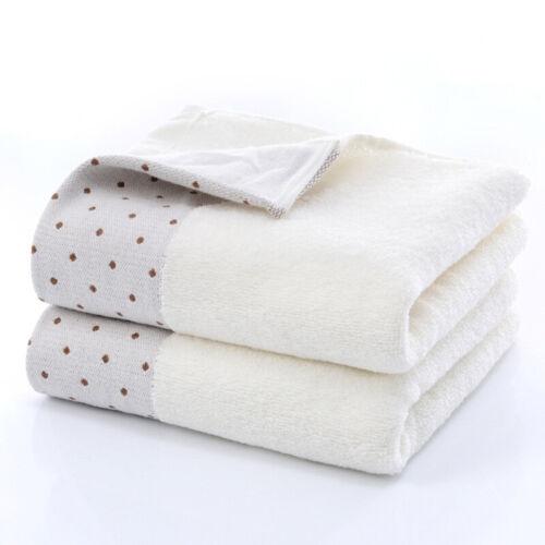 2pcs Thick Cotton Bath Shower Towel Home Bathroom Hotel For Kids Adults 35*75 cm