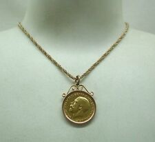 1911 Full 22ct Gold Sovereign Pendant and Chain