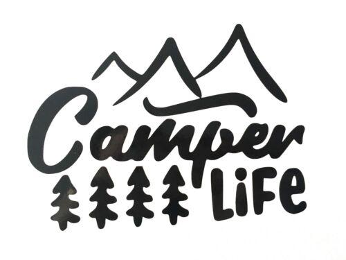 CAMPER LIFE Vinyl Decal Sticker Campervans Caravans Great for Cars