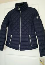 MICHAEL Michael Kors Diamond Quilted Down Dark Blue Jacket size M w/t New