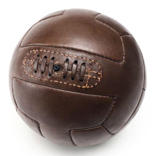 Echtleder Fußball handgemacht Retro 30er 50er Jahre Stil Vintage Lederball