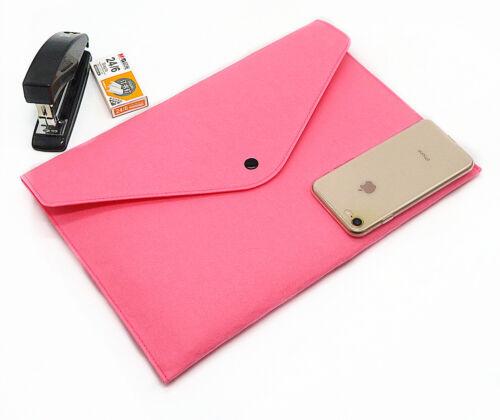2 Filz Dokumententaschen DIN A4 Dokumentenmappe Pink Aktenordner Büro Mappe Rosa