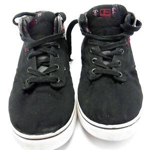 Globe Motley Mid GBMOTLEYM Mens Black Nubuck Leather Athletic Skate Shoes