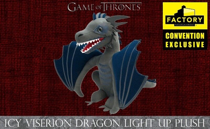 SDCC Exclusive 2018  Game of Thrones Icy Dragon Plush Light Up RARE IN HAND