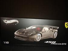 Hot Wheels Elite Ferrari 458 Italia GT2 Presentation Version Matt Black 1/18