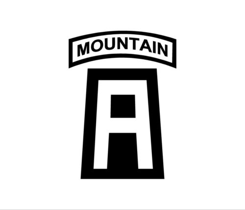86th IBCT 3-172 INF MTN MOUNTAIN INFANTRY PATCH  Decal Bumper Sticker Big A