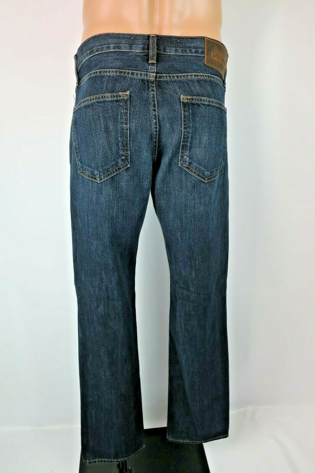 NEW BIG STAR Division Straight Leg Jeans Mens 32R 33 inseam Dark Denim Wash NWT