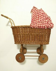 Baby-Doll-Carriage-Vintage-Collectible-Doll-Stroller-UNIQUE