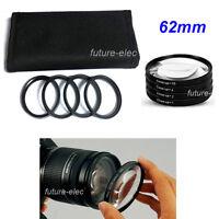 62mm 62 mm Close-up Close up Filter Macro Lens +1 +2 +4 +10 For Canon Nikon Fuji