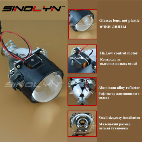 Upgrade 8.0 2.5/'/' H1 HID Bi-xenon Projector Lens Retrofit W// Devil Demon Eyes