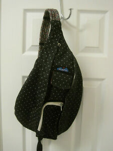 Kavu Rope Sling Bag Black White Dots